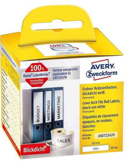 Avery Zweckform etikete AS0722470, za Dymo termalne tiskalnike, 38 x 190 mm
