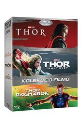Kolekce Thor 1-3: Thor + Thor: Temný svět + Thor: Ragnarok (3BD)   - Blu-ray