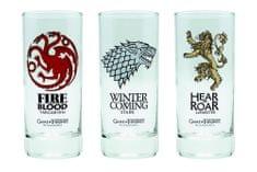 Sklenice Game of Thrones (set 3ks)