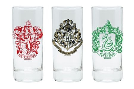 Sklenice Harry Potter (set 3ks)