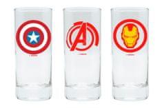 Sklenice Marvel (set 3ks)