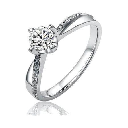Silvego Stříbrný zásnubní prsten SHZR302 (Obvod 56 mm) stříbro 925/1000