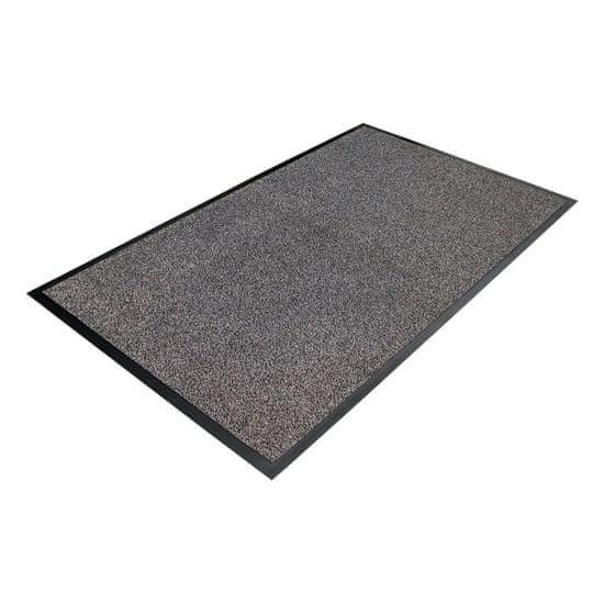 Šedá textilní čistící vnitřní vstupní rohož - 0,9 cm