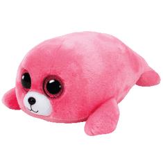 TY Beanie Boos rózsaszín fóka PIERRE, 24 cm - Medium