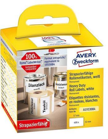 Avery Zweckform zelo odporne etikete A1933084, za Dymo tiskalnike, 32 x 57 mm