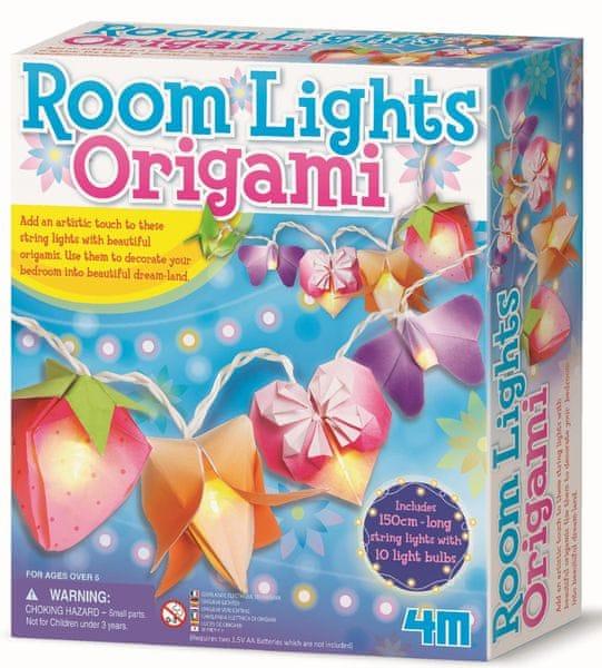 4M Světelný řetěz origami