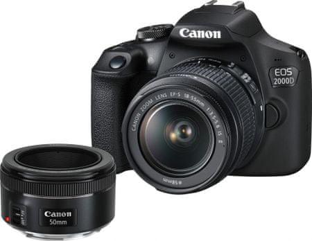Canon lustrzanka cyfrowa EOS 2000D + 18-55 IS + 50/1,8 (2728C022)