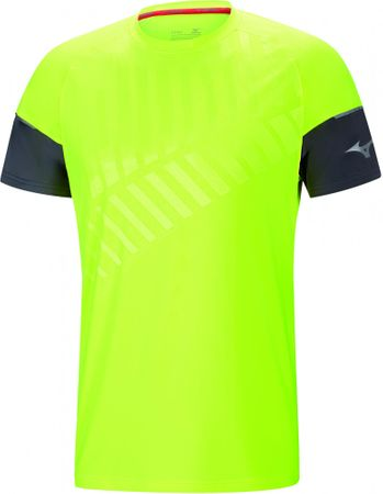 Mizuno T-shirt męski Shadow Tee Castlerock/Safety Yellow S