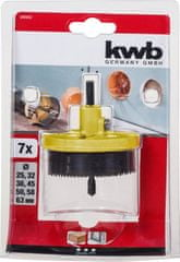 KWB nastavek za izrezovanje lukenj (599000), 7 rezil (Φ 25–63 mm)