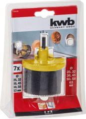 KWB nastavek za izrezovanje lukenj (599100), 7 rezil (Φ 25 – 63 mm)