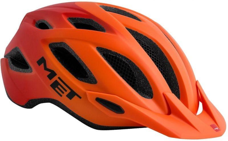 MET Crossover Oranžová L/XL (60-64 cm)