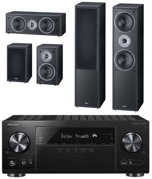 Pioneer VSX-832-B, černá + Magnat Monitor Supreme 802 set, černá