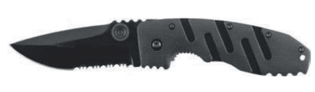 Ausonia zložljiv žepni nož z G10 ročajem, črni (26238)