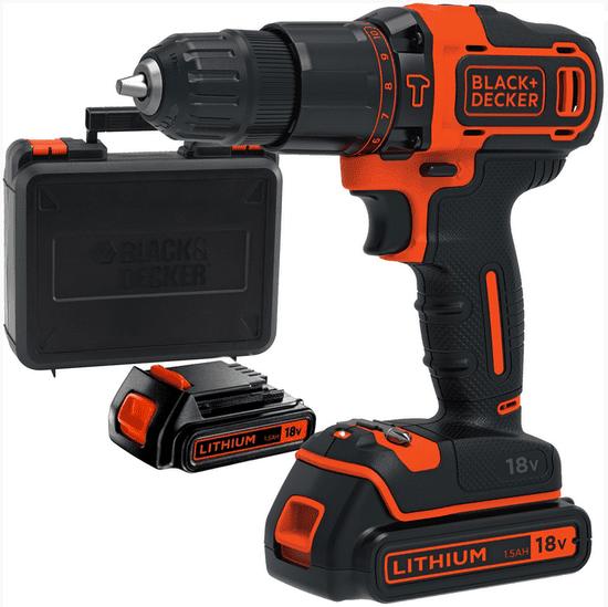 Black+Decker wiertarko-wkrętarka akumulatorowa BDCHD18KB-XK