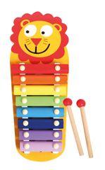 LENA Dřevěný xylofon, lev