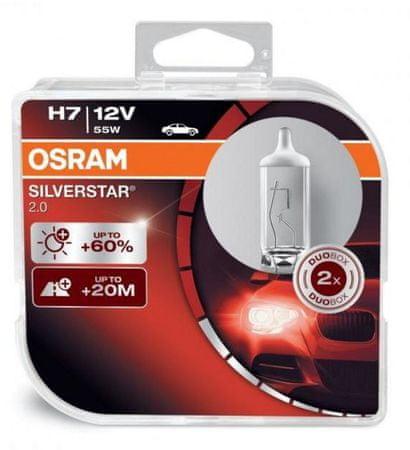 Osram par žarnic 12V H7 55W Silverstar 2.0
