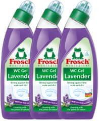 Frosch Eko WC gel levandule 3x750 ml