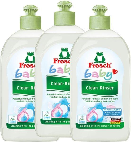 Frosch EKO Mycí prostředek na kojenecké lahve a dudlíky 3x500ml