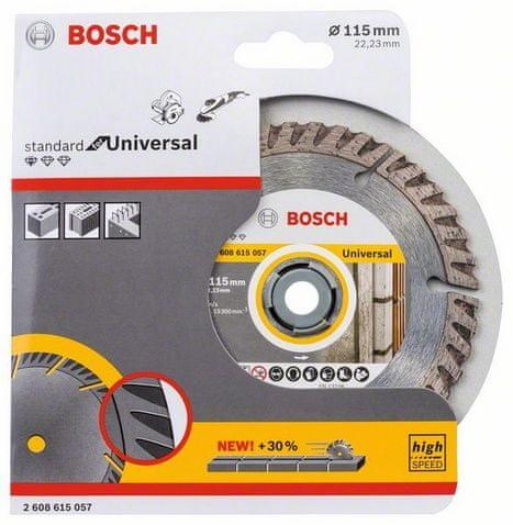 Bosch dijamantni disk za rezanje Standard for Universal, 115 × 22,23 mm