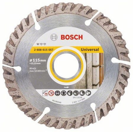 Bosch diamantna rezalna plošča Standard for Universal, 115 × 22,23 mm