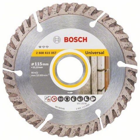 Bosch Diamantový dělicí kotouč Standard for Universal 115 × 22,23 mm