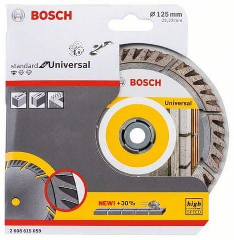 Bosch dijamantni disk za rezanje Standard for Universal, 125 × 22,23 mm