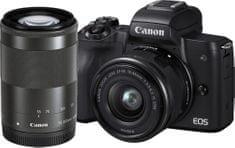 Canon EOS M50 + 15-45 + 55-200 (2680C022) + Cashback 1200 Kč! + 500 Kč na fotoslužby