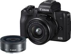 Canon EOS M50 + 15-45 + 22 (2680C032) + Cashback 1200 Kč! + 500 Kč na fotoslužby
