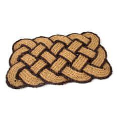 FLOMAT Kokosová vstupní rohož Jumbo Rectangle Brown - 75 x 45 x 3,5 cm