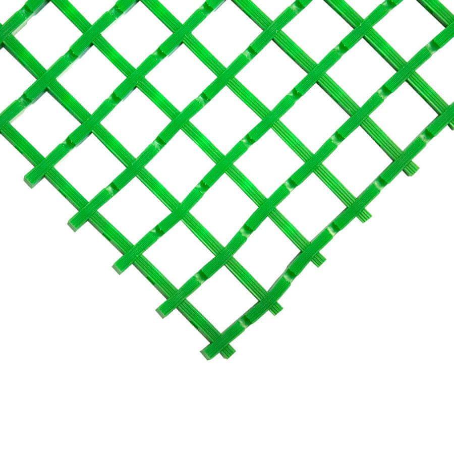 Zelená olejivzdorná průmyslová univerzální rohož - 5 m x 60 cm x 1,2 cm