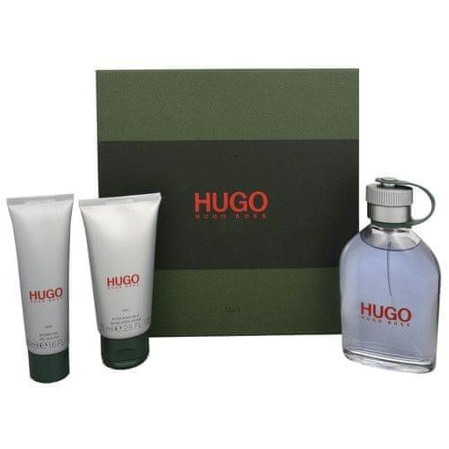 Hugo Boss Hugo - toaletní voda s rozprašovačem 125 ml + balzám po holení 75 ml + sprchový gel