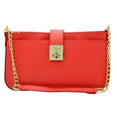 J&C JACKYCELINE Dámská kožená kabelka Borsa Pelle S16B301-02-047 Coral Red