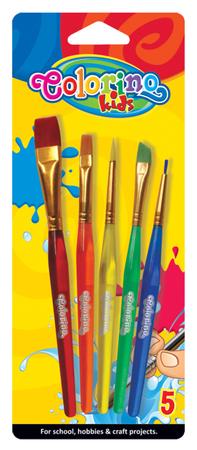 Štětce s plastovými držadly Colorino sada 5 kusů