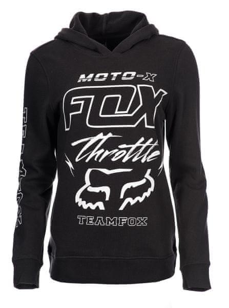FOX dámská mikina Throttle Maniac M černá