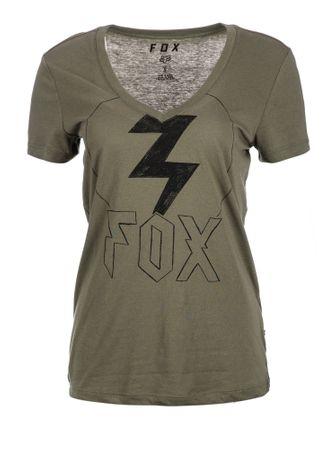 FOX dámské tričko Repented S khaki  44212ea0c29