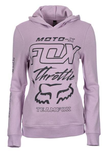 FOX dámská mikina Throttle Maniac S světle fialová