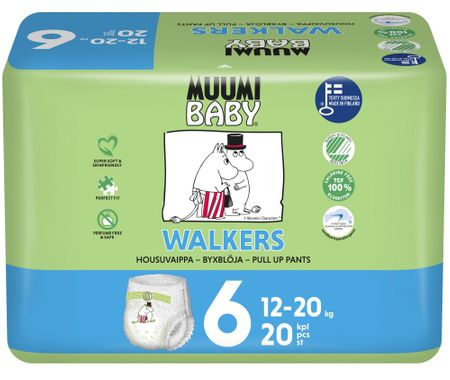 MUUMI BABY Walkers 6 Junior Pelenka, 12-20 kg, 20 db