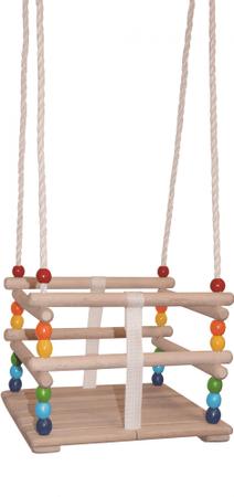 Woody leseni otroški gugalni sedež