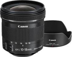 Canon EF-S 10-18mm f/4,5-5,6 IS STM + EW-73C + LC Kit (9519B009AA) - rozbaleno