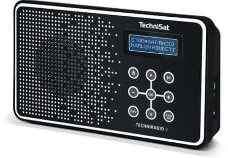 Technisat Przenosne radio TECHNIRADIO 2, czarny/biały