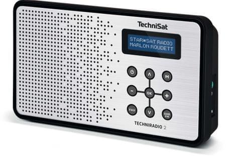 Technisat Przenośne radio TECHNIRADIO 2, czarny/srebrny