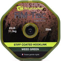 RIDGEMONKEY Návazcová Šňůrka RM Tec Stiff Coated Hooklink 20 m Zelená