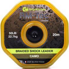 RIDGEMONKEY Návazcová Šňůrka Tec Braided Shockleader 20 m Camou