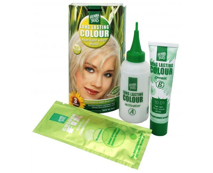 Hennaplus Dlouhotrvající barva na vlasy 100 ml (Long Lasting Colour) (Odstín 10.01 Stříbrná blond)