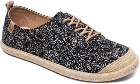Roxy ženski čevlji Flora Lace UP J Shoe Blk Black, 37, črni