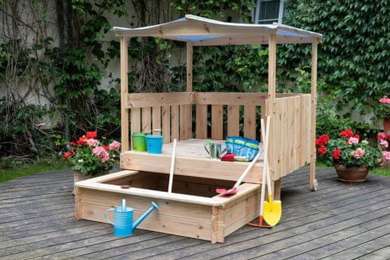Woody Zahradné odpočívadlo zasúvaie spieskovisko