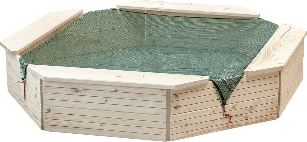 Woody Pískoviště dřevěné přírodní - rozbaleno