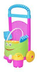 Let's play Barevný vozík se sadou na písečné hrátky modrý