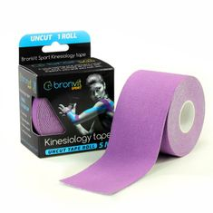 BronVit  Sport Kinesiology tape Uncut 5m x 5cm - fialová