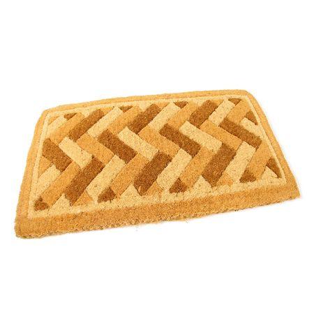 FLOMAT Kokosová vstupní rohož Bricks - Deco - 75 x 45 x 4,7 cm